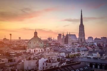 Fond de hotte en verre imprimé Vienne Vienna Skyline with St. Stephen's Cathedral, Vienna, Austria