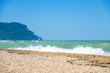 view to the sea near Ancona, Italy