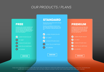 Product Features Card Style Layout