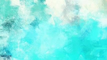 dirty brush strokes background with aqua marine, turquoise and honeydew colors. graphic can be used for wallpaper, cards, poster or creative fasion design element Wall mural