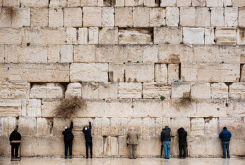 People Praying at The Western Wall