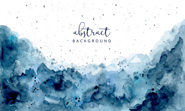 blue abstract watercolor texture background