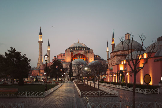 A view on the Aya Sofia mosque in Istanbul