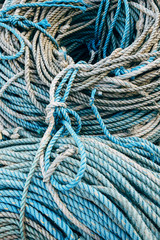 Detail of fishing rope. Ilfracombe, Devon, UK.