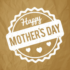Happy Mother's Day Postcard vector rubber stamp