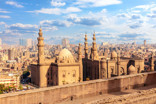 View on the Mosque-Madrassa of Sultan Hassan, Cairo, Egypt