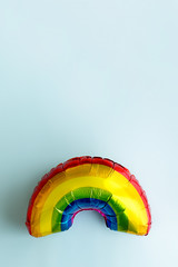 Colorful rainbow balloon