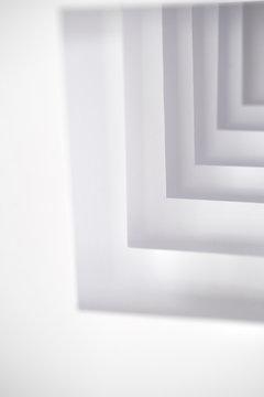 Modern white abstract sculpture