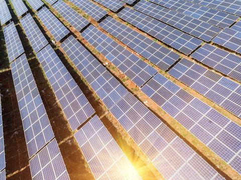 Aerial photography bird-eye view of Solar energy power generator