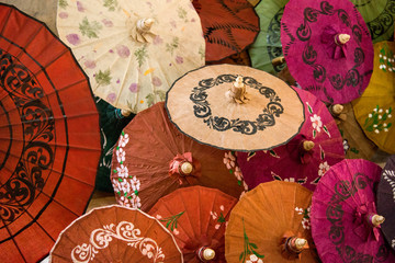 Handmade umbrellas from Myanmar