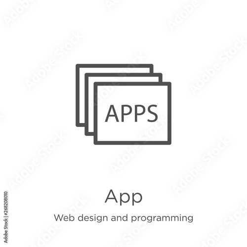 app icon vector from web design and programming collection