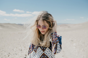 Portrait of a hippie girl