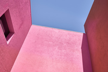 Colorful pink architecture
