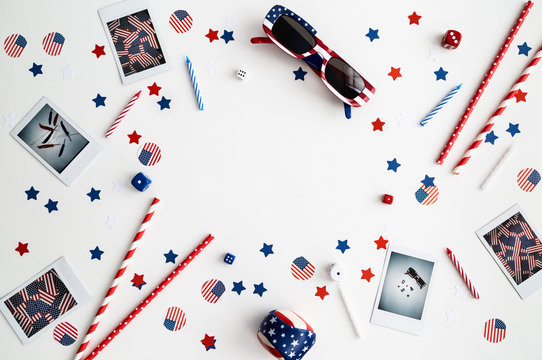 Fourth of July Flatlay chaotic