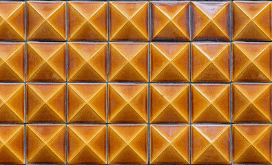 Yellow tiles background on the wall, Porto. Portugal