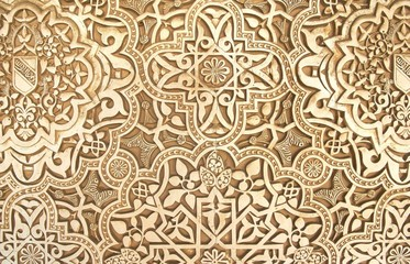 Pattern of Moorish art carvings