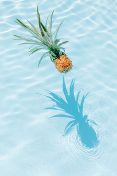 Pineapple in a pool