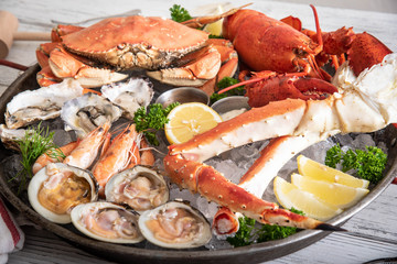 Fototapeta gorgeous seafood platter image obraz