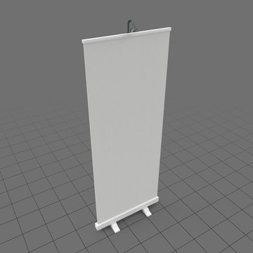 Vertical projection screen