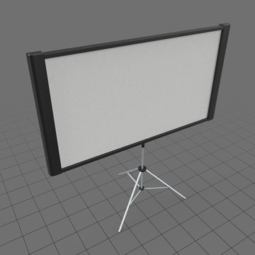 Projection screen on stand