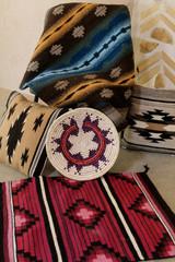 Navajo weaving and basket.