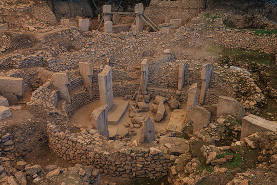 Gobeklitepe archaeological site Sanliurfa/Turkey. (Gobeklitepe The Oldest Temple of the World. Gobekli Tepe is a UNESCO World Heritage site.)