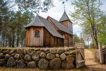 Fototapeta Stary drewniany kościół obraz