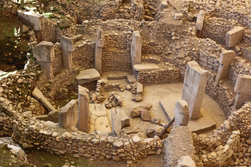 Gobeklitepe archaeological site Sanliurfa/Turkey. (Gobeklitepe The Oldest Temple of the World. Gobekli Tepe is a UNESCO World Heritage site.)