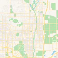 Empty vector map of Scottsdale, Arizona, USA