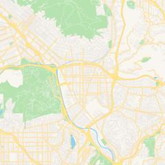 Empty vector map of Glendale, Arizona, USA