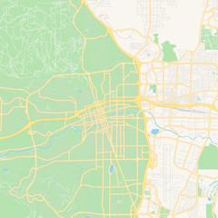 Empty vector map of Reno, Nevada, USA