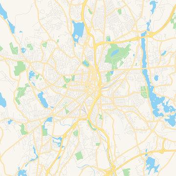 Empty vector map of Worcester, Massachusetts, USA