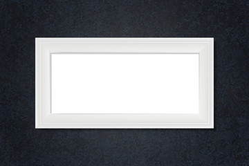 Wall Mural - White blank frame on the wall