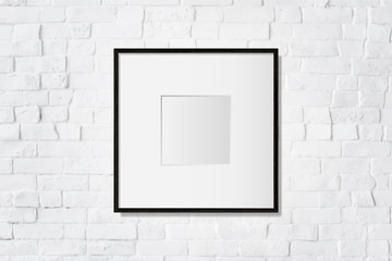 Wall Mural - Simple blank frame on the wall