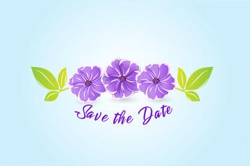Flower watercolor vector image design
