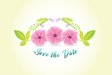 Flower watercolor logo vector image design