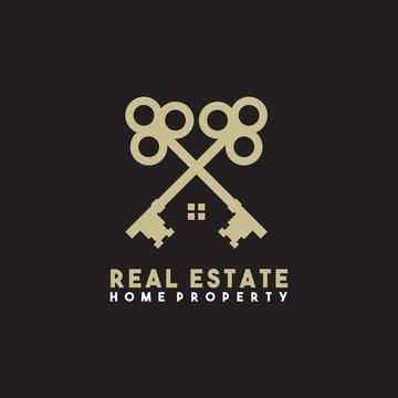 Real estate logo design vector template
