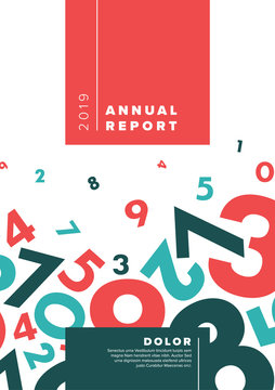 Modern Vector abstract annual report design template