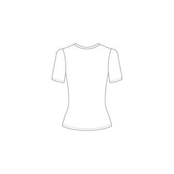 t-shirt template. White t-shirts, longsleeve. Vector