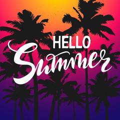 Hello Summer time wallpaper, fun, party, background, picture, art, design, travel, poster, event.