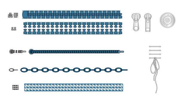 vector illustrator sequins illustrator brushes, Basic Plastic Dye-to-Match Zipper