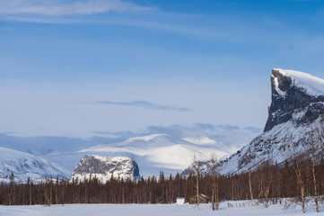 National Park Sarek and the mountains Skierffe and Nammatj. Laponia, Sweden