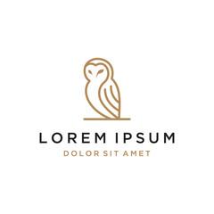 owl line concept vector logo design