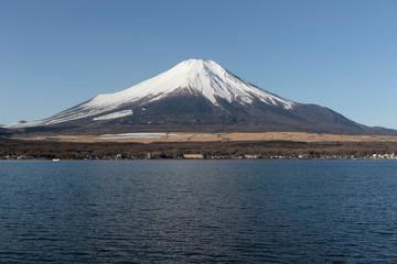 Mt.Fuji and Lake Yamanaka in the winter