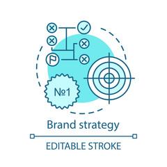 Brand strategy concept icon
