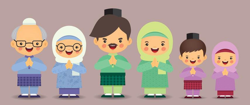 1 118 Best Hari Raya Cartoon Images Stock Photos Vectors Adobe Stock
