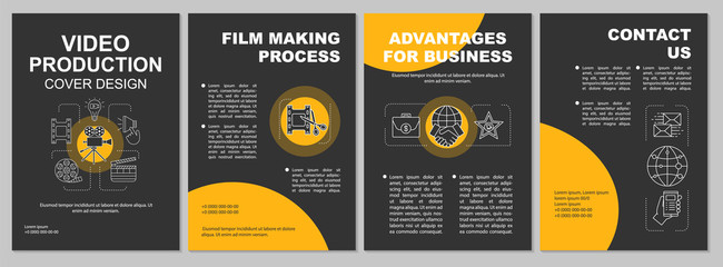 Video production agency brochure template layout