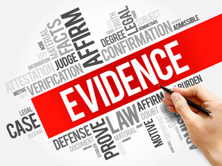 Evidence word cloud collage