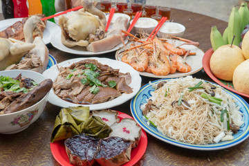 Food to pay respect to the Chinese New Year