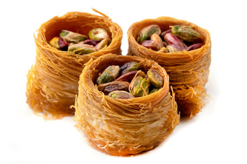 Bird nest baklava